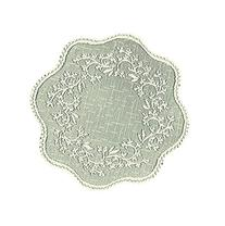 Heritage Lace Sheer Divine Round Doily, 12-Inch, Ecru, Set