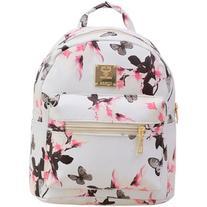 SheIn Allover Vintage Flower Print Backpack - White