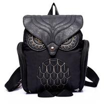SheIn Black Owl Pattern Shaped Backpack