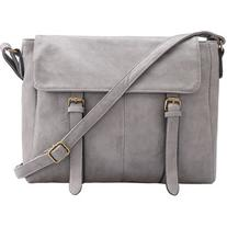 SheIn Grey Buckle PU Shoulder Bag