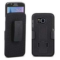 Galaxy S6 Case, Aduro Shell & Holster COMBO Case Super Slim