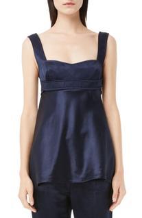 Women's Victoria Beckham Shine Satin Bustier Top, Size 6 US
