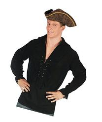 Morris Costumes Shirt Fancy Black Pirate