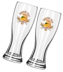 Shock Top Brewing Company 16oz Pilsner Beer Glass Set of Two