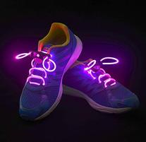 Flammi LED Shoelaces Light Up Shoe Laces with 3 Modes in 5 Colors Flash Lighting the Night for Party Hip-hop Dancing Cycling Hiking-type A