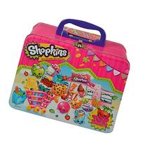 "Shopkins ""Once you Shop, You Can't Stop"" Tin W/ Handle -"