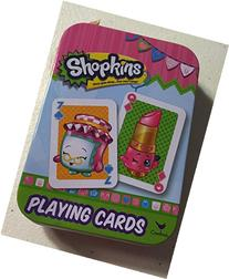 Shopkins Playing Cards With Metal Holding Container
