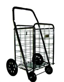 Trimmer Extra Large Shopping Cart, Black