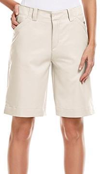 PGA TOUR Women's 10 Inch Ladies Short, Silver Lining/Khaki,