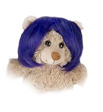 """Short Bob Purple Wig Fits Most 14"""" - 18"""" Build-a-bear,"""