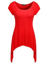 Thanth Womens Short Sleeve Comfy Long Tunic With Various Cut