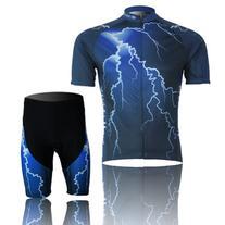 Baleaf Men's Short Sleeve Cycling Jersey 3D Padded Short Set