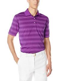 PGA TOUR Men's Short Sleeve 3 Color Fine Line Striped Polo