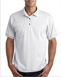 Gildan Men's Short Sleeve Polo Pocket Jersey - WHITE -