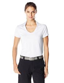 PGA TOUR Women's Short Sleeve Self Collar Top Polo, Bright