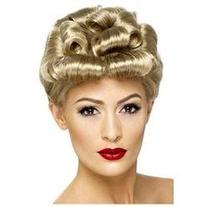 Short Vintage Curly Wig 29608 Smiffy's Blonde One Size Fits