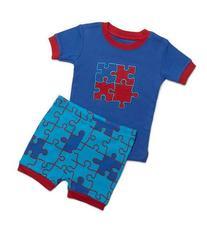 "Leveret Shorts ""Puzzle"" Baby Boy 2 Piece Pajama 100% Cotton"