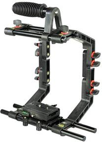 FILMCITY DSLR Camera Shoulder Support Rig Kit with Cage &
