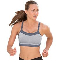 Champion Women's Show Off Sports Bra, Oxford Heather/Medium