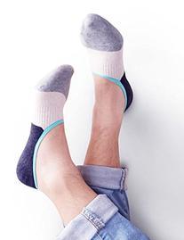 Vero Monte 4 Pairs Mens Elastic No Show Socks