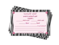 Baby Shower Advice & Prediction Cards for Mom Zebra Jungle