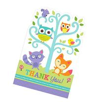 Baby Shower 'Woodland Welcome' Thank You Notes w/ Envelopes