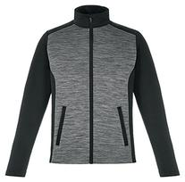 North End mens Shuffle Performance Melange Interlock Jacket-