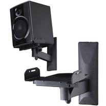 VideoSecu Side Clamping Bookshelf Speaker Wall Mount - Sturdy Steel Gripping Bracket  3LH