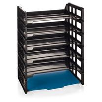 Officemate Side Load Letter Tray, Black, 6 Pack