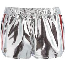 Moncler Gamme Rouge - side striped shorts - women - Silk/
