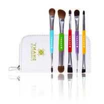 SHANY 5 Piece Double Sided Essential Brush Set with Travel