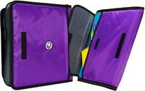 Case-it Sidekick 2-Inch O-Ring Zipper Binder with Removable