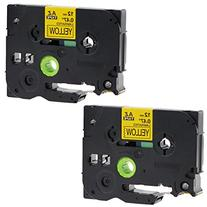 SIENOC Black on Yellow Label Tape P-touch Compatible for