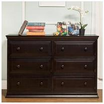 Da Vinci Signature 6 Drawer Double Dresser Dark Java