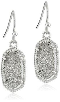 Kendra Scott Signature Lee Earrings in Rhodium Plated and