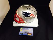 Tom Brady Signed Autographed Patriots Mini Helmet Mounted