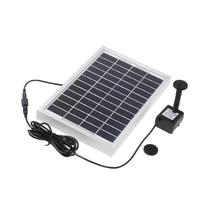 Docooler 12V 5W Silicon Brushless Solar-Powered Water Pump Water Cycle/Pond Fountain