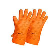Silicone BBQ Grill Heat Resistant Gloves, FDA Approved