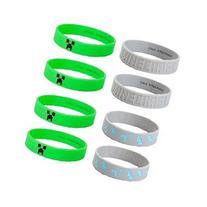 MINECRAFT Silicone Bracelet Lot 24 Bracelets Party Favors