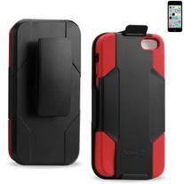 Reiko Silicone Case with Protector Cover, Holster and Clip