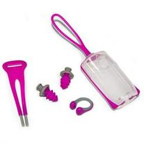 Aqua Sphere Silicone Ear Plug and Nose Clip Set with Case -