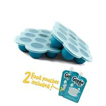 Silicone Freezer Tray for Baby Food Storage - Twin Pack -