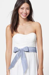 Women's L. Erickson Silk Charmeuse Wide Sash - White