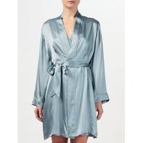 John Lewis Silk Dressing Gown, Aqua