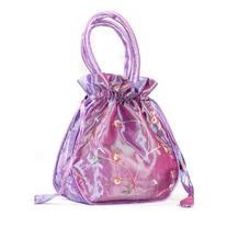"""Aspire Silk Jewelry Pouch, Wedding Favor Bags, 7"""" x 2"""" x 6"""