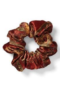 Women's L. Erickson 'Medium' Silk Scrunchie - Burgundy