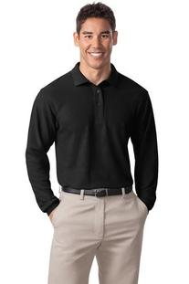 Men's Silk Touch Long Sleeve Classic Polo Shirt