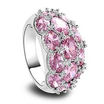 Women's 925 Sterling Silver 7.75cttw Pink Topaz Filled Ring