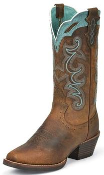"""Justin Boots Women's Silver Collection 12"""" Punchy Boot Wide"""