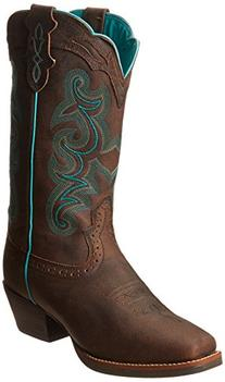 "Justin Boots Women's Silver Collection 12"" Punchy Boot Wide"